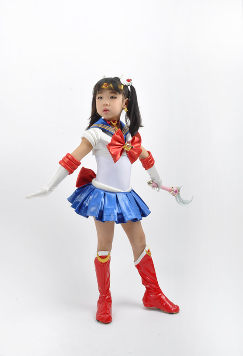 Sailor Moon Princess Sailor Moon Tsukino Usagi Make Up Suit for Kids Cosplay Costume