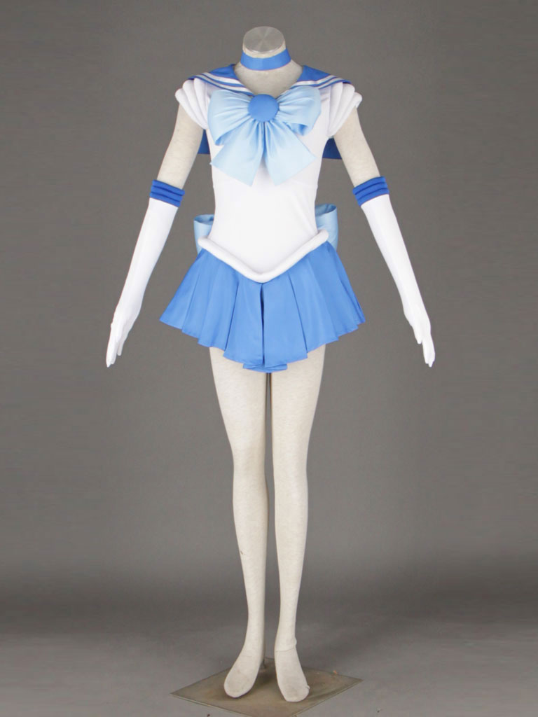 Sailor Moon Sailor Mercury Mizuno Ami Amy Anderson Fighting Uniform Cosplay Costume