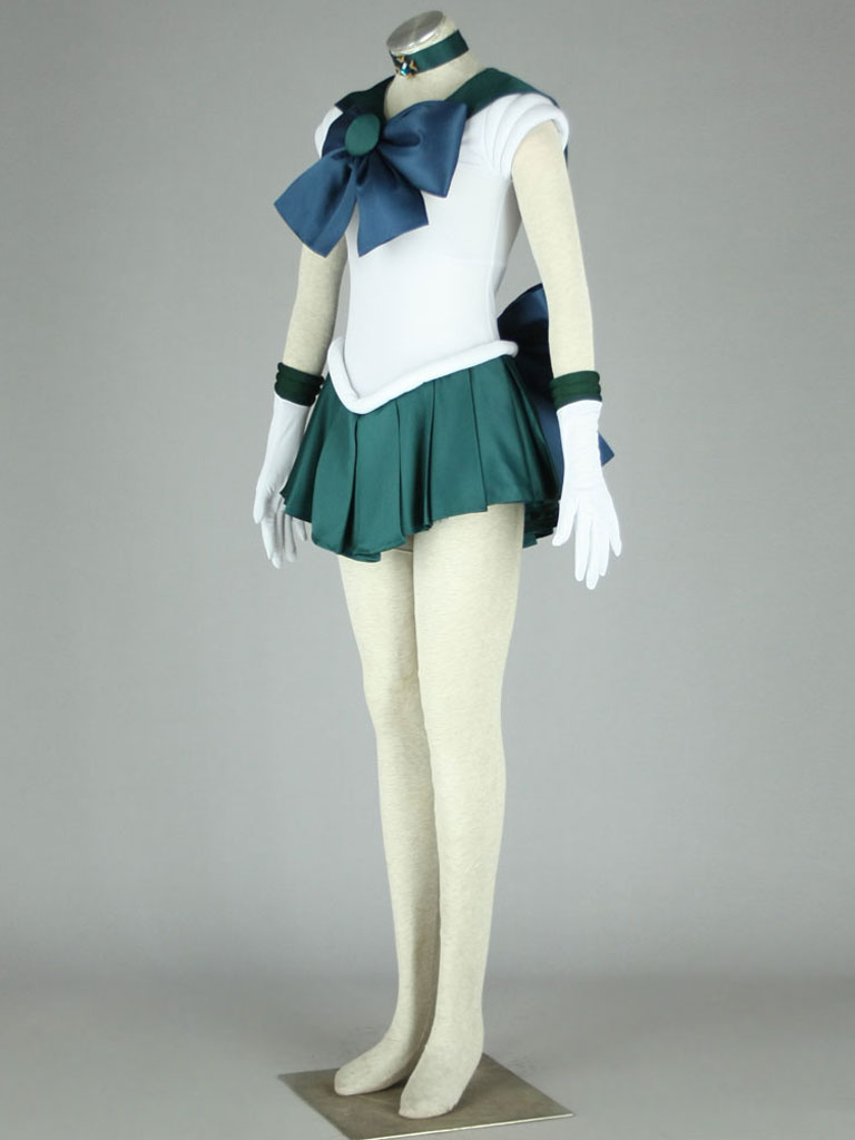 Sailor Moon Sailor Neptune Kaiou Michiru Fighting Uniform Cosplay Costume