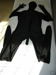 Sexy Black Unicolor Zentai Suit