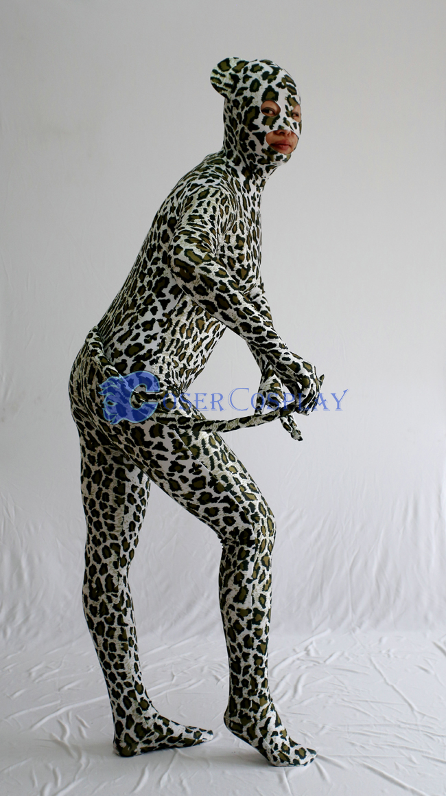 Sexy Leopard Zentai Costume For Halloween