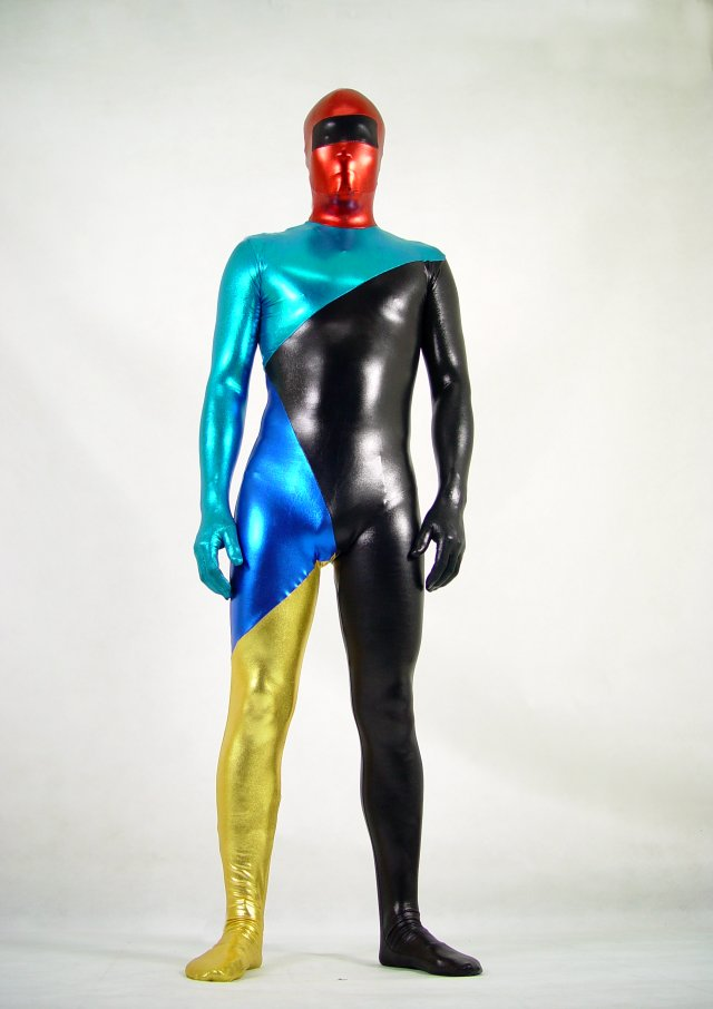Sexy Man Shiny Spandex Full Body Suit Zentai