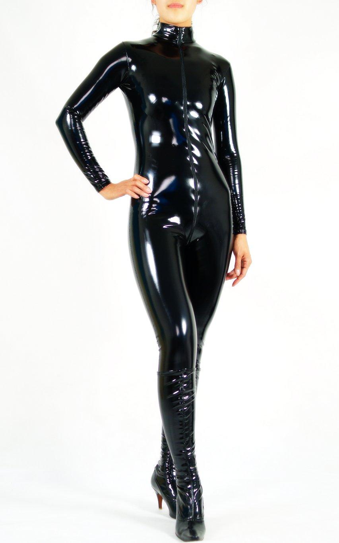 Black latex suit