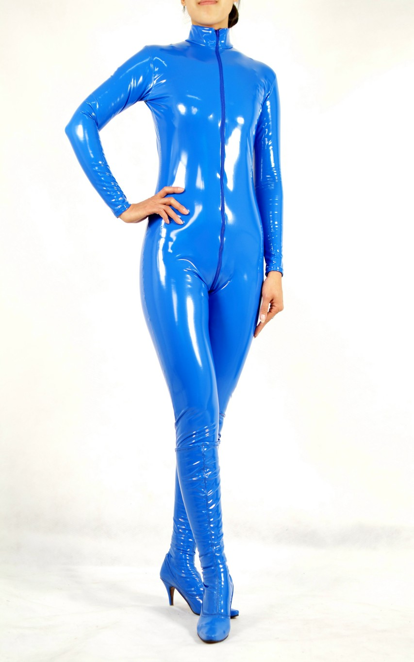 Sexy PVC Catsuit Blue