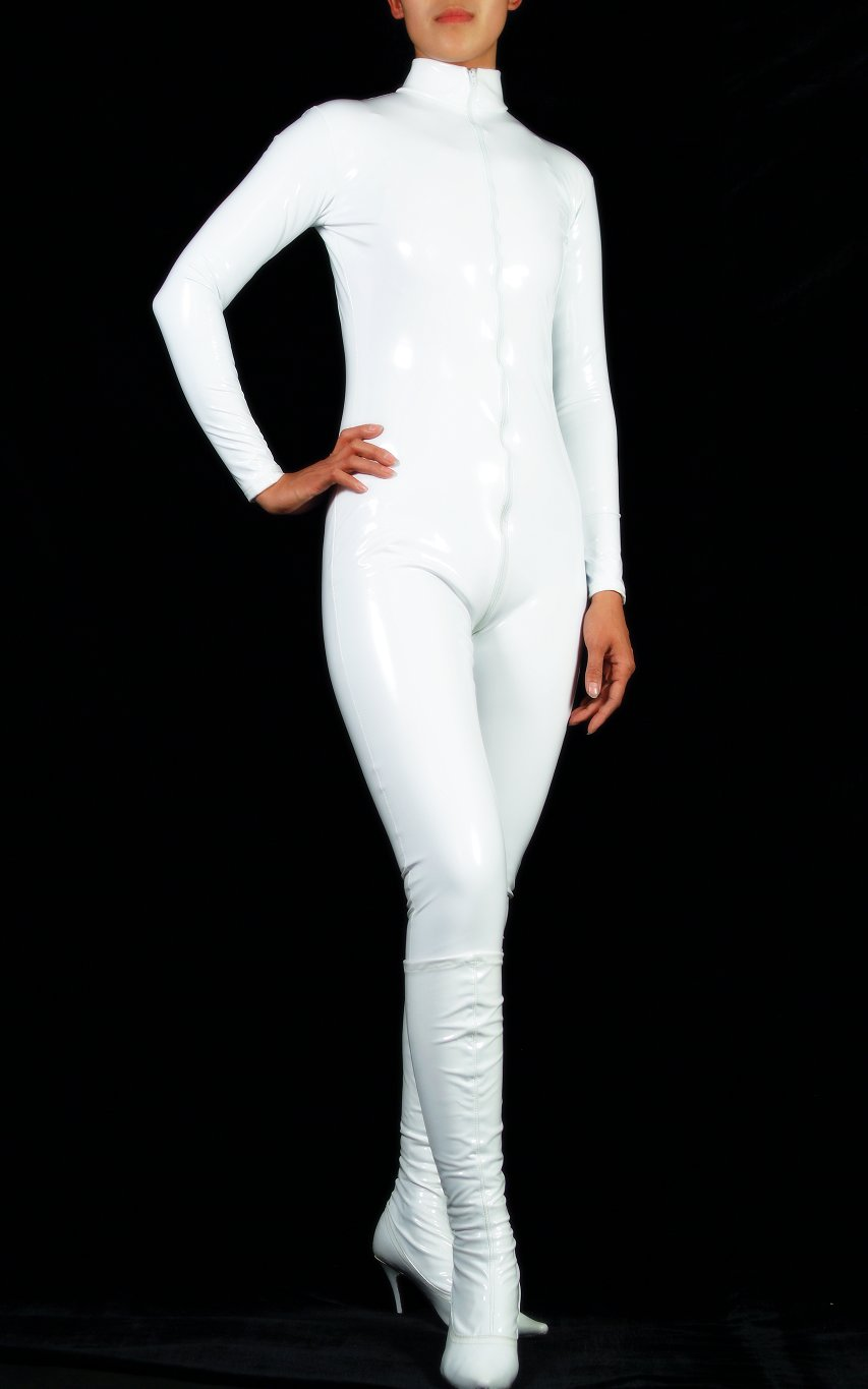 Sexy white catsuit