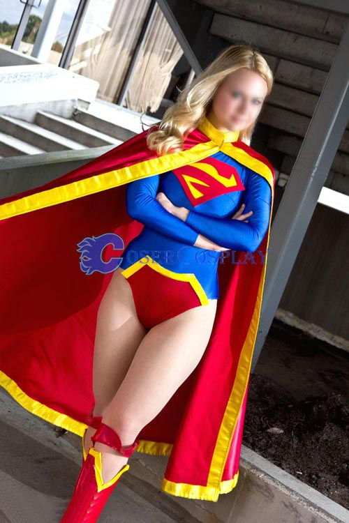Sexy Supergirl Cosplay Costume Fashion New