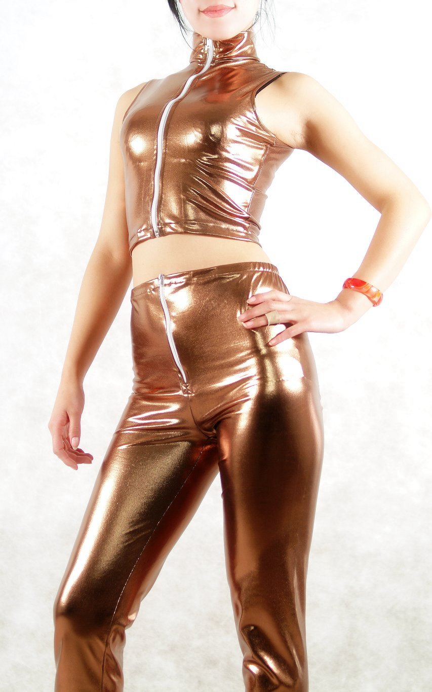 Shiny Spandex Sexy Cat Suits
