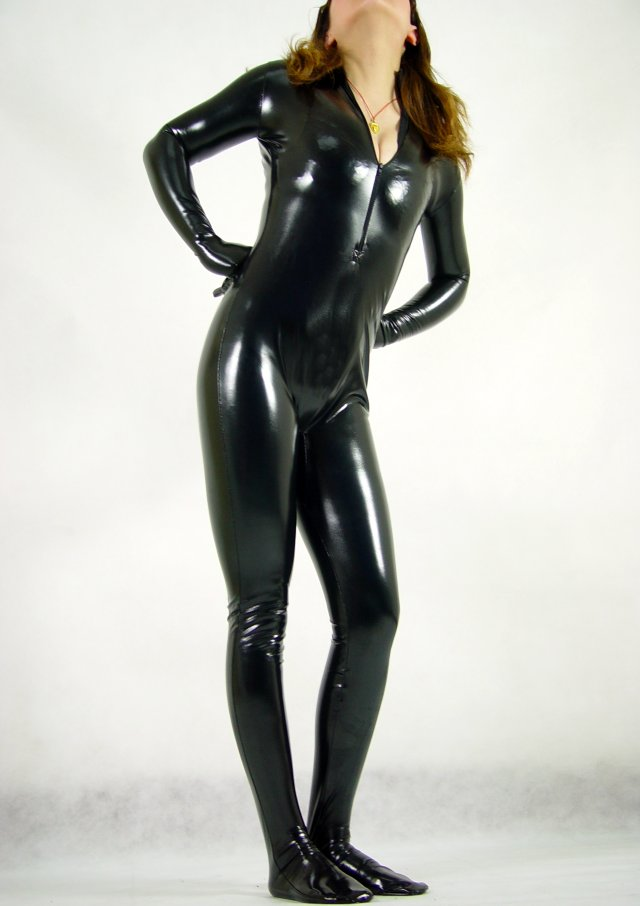Sexy black catsuits