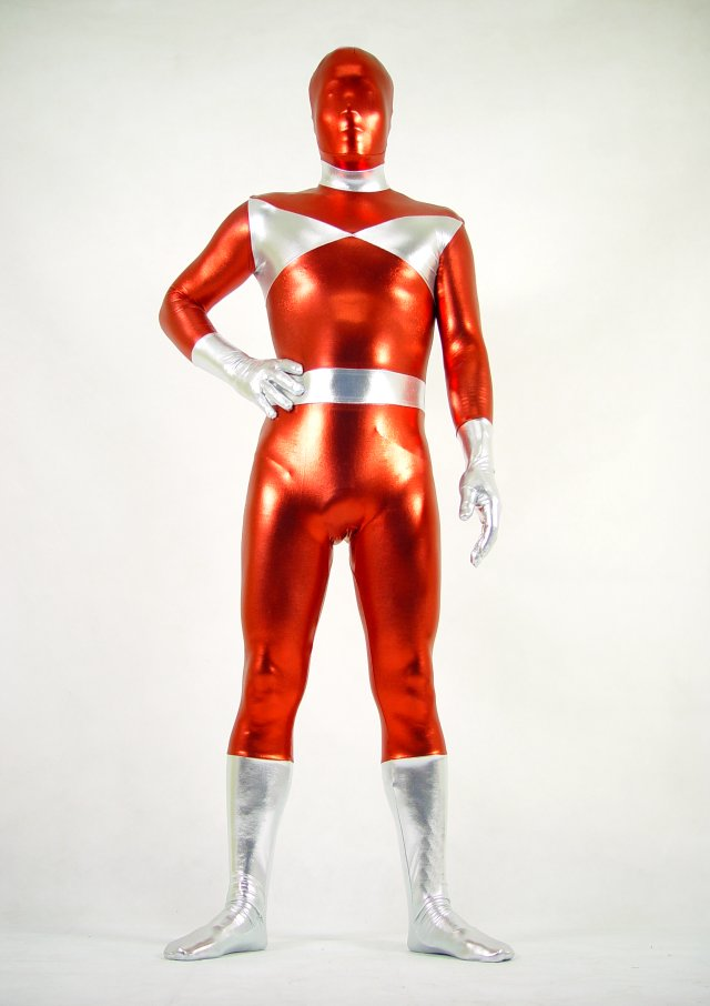 Silver Red Halloween Costume Ideas Zentai