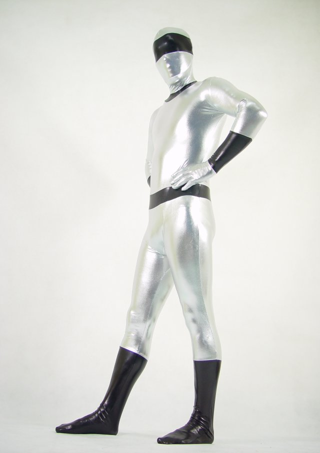 Silver Shiny Halloween Costume Ideas Zentai
