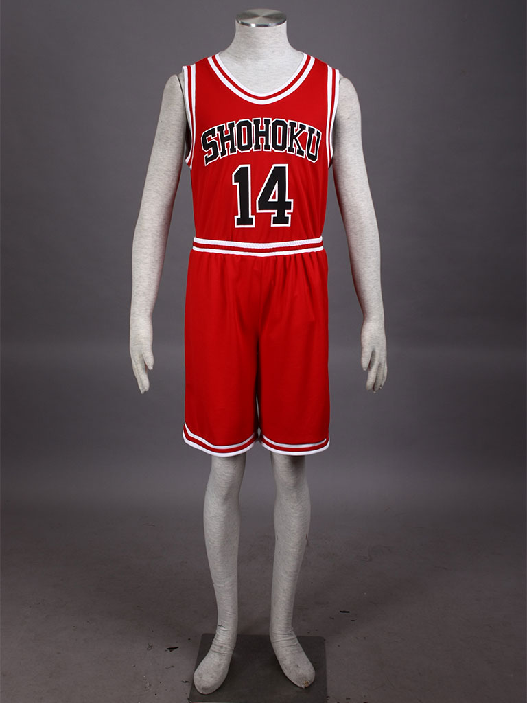Slam Dunk Hisashi Mitsui The Shohoku High School basketball team Uniform Red Number 14 Cosplay Costume