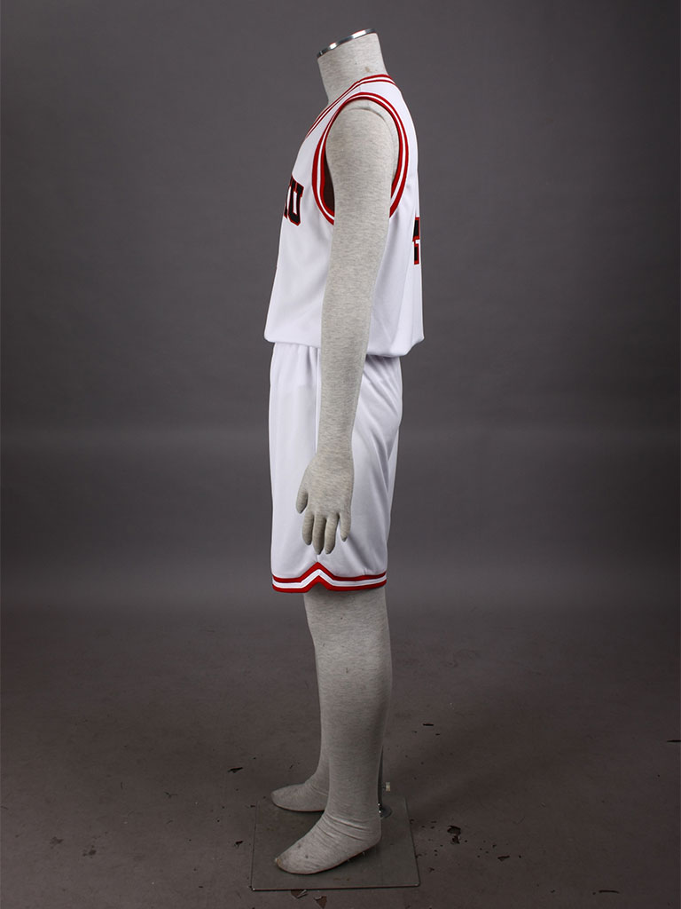 Slam Dunk Takenori Akagi The Shohoku High School basketball team Uniform White Number 4 Cosplay Costume