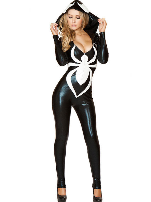 Spider-Girl Cosplay Costume Halloween Wetlook Catsuit 16081720