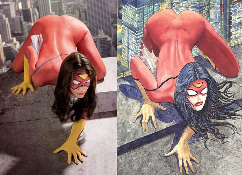 Spider-Woman Sexy Halloween Costumes For Women 16081707