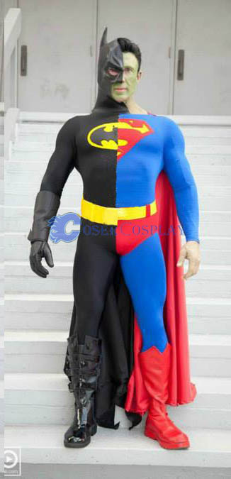 Split Batman Costume Halloween Superhero Capes