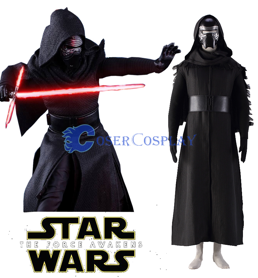 Star Wars The Force Awakens Kylo Ren Ben Solo Cosplay Costume