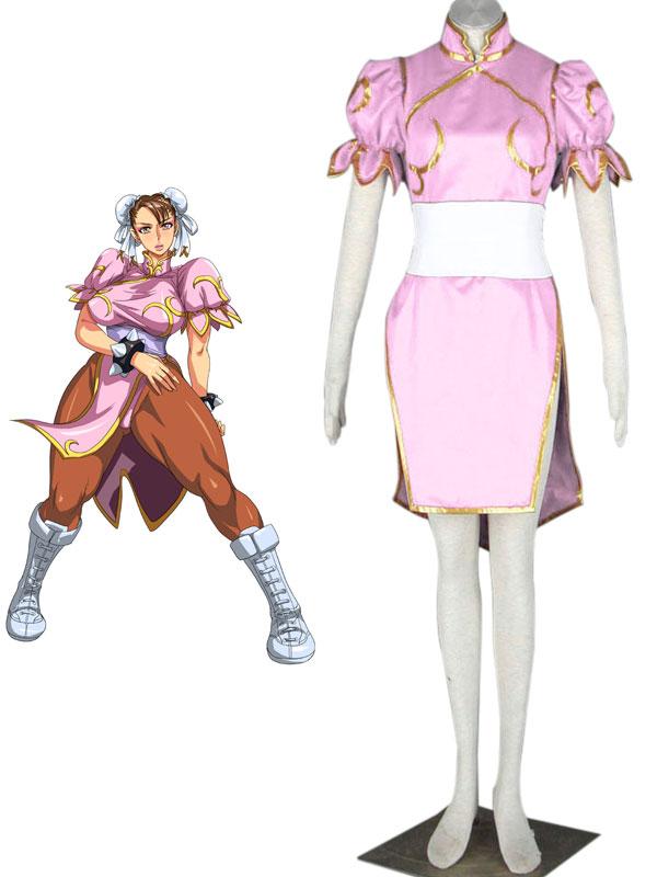 Street Fighter Chun Li Pink Cosplay Costume Cosercosplay Com