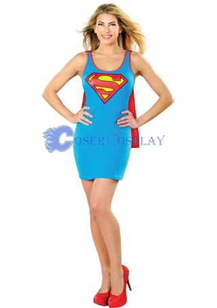 Supergirl Cosplay Costume Fashion Dress