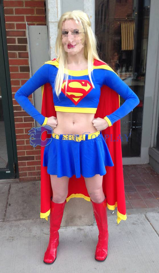 Supergirl Cosplay Costume Halloween