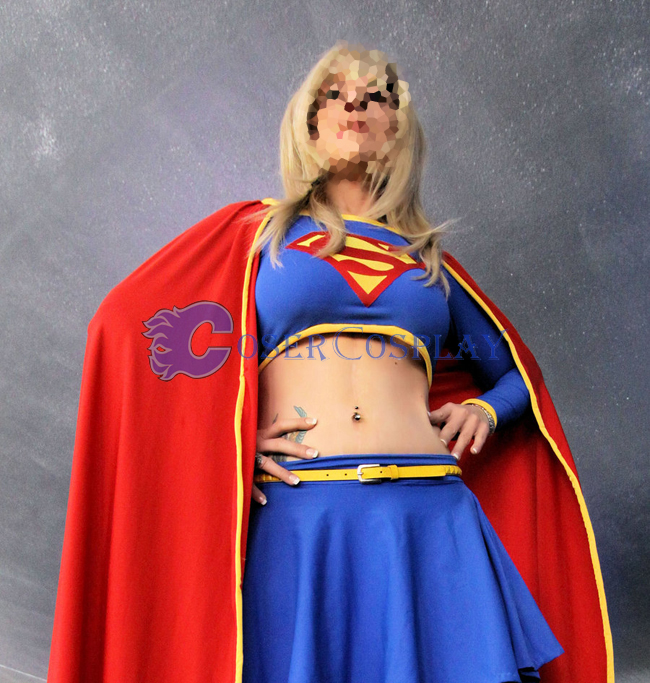 Supergirl Cosplay Costume Halloween Dress