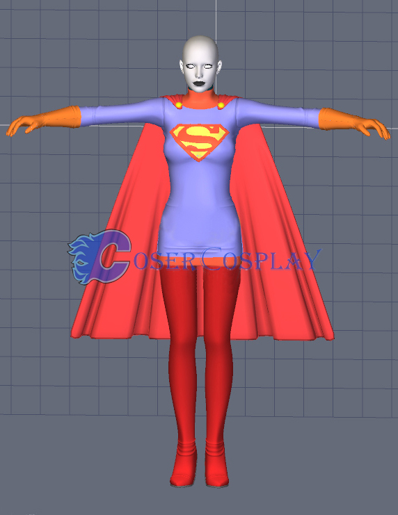 Supergirl Cosplay Costume Halloween Party