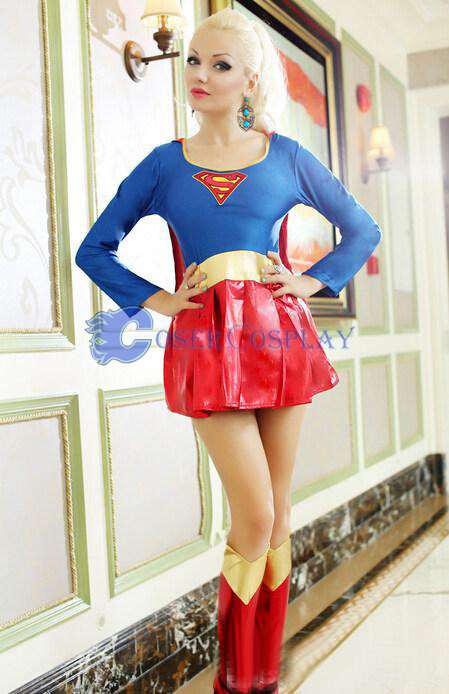 Supergirl Cosplay Costume Lovely Halloween