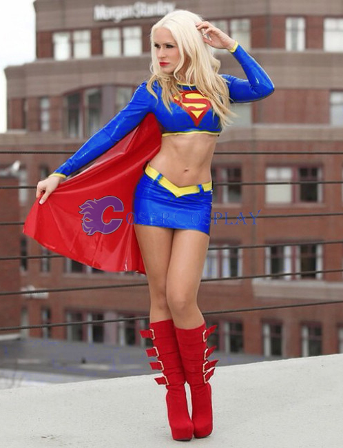 Supergirl Cosplay Costume PVC Halloween