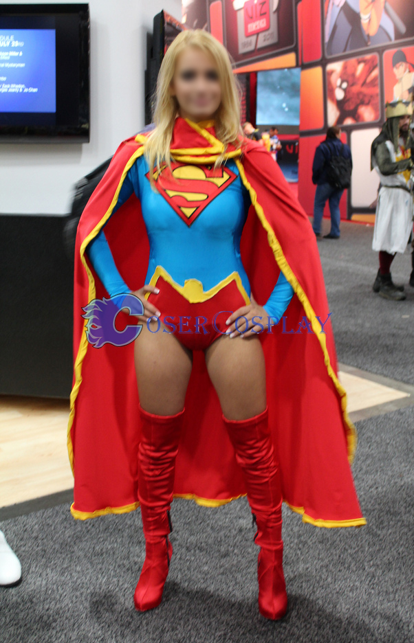 Supergirl Cosplay Costume Sexy Halloween