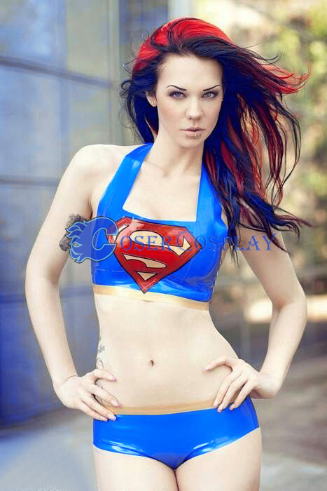 Supergirl Cosplay Costume Sexy Suit Halloween