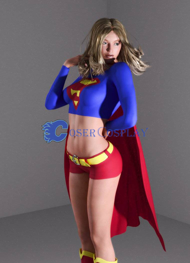 Supergirl Cosplay Costume With Cape