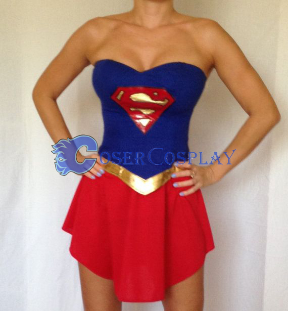Supergirl Dress Sexy Halloween Costumes For Women