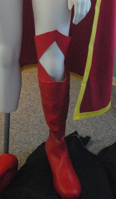Z Supergirl Red Thigh High Boots