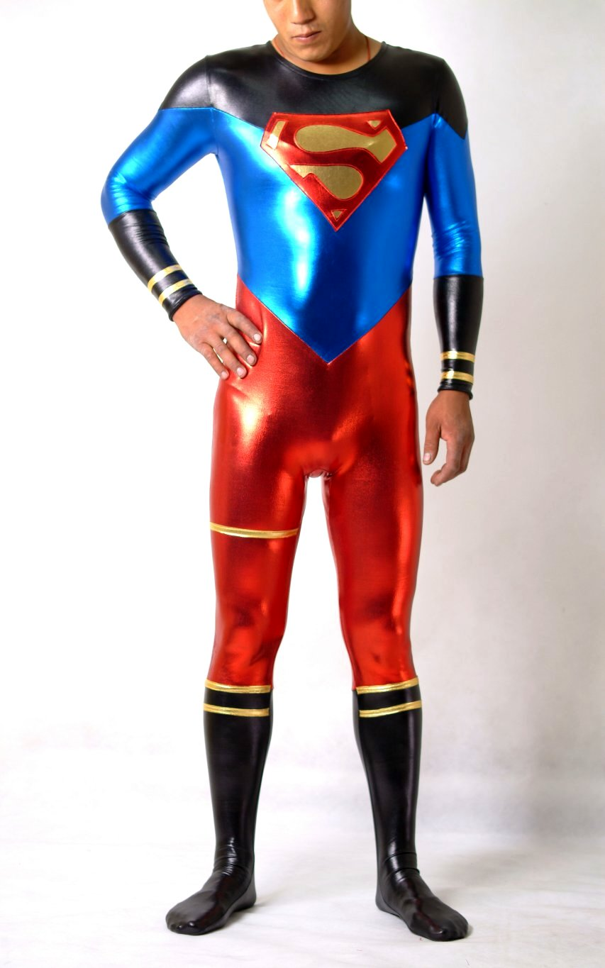 Superhero Halloween Costumes Shiny Spandex Catsuit