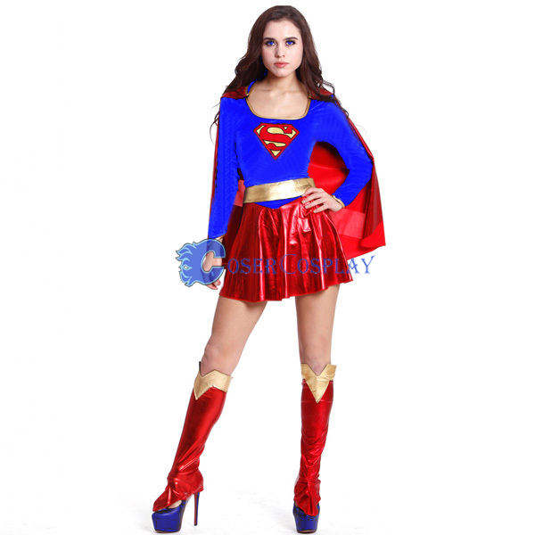 Superhero Superwoman Halloween Costume