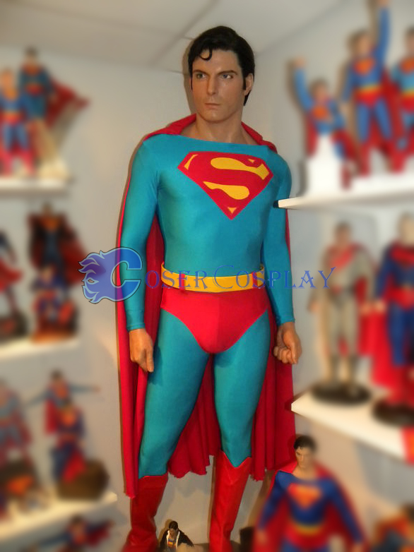 Superman Cosplay Costume Cape Catsuit