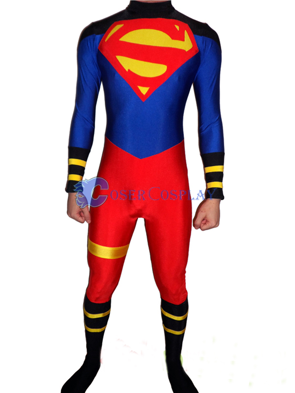 Superman Cosplay Costume Catsuit