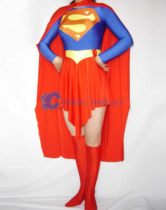 Superman Cosplay Costume Female Halloween Dress
