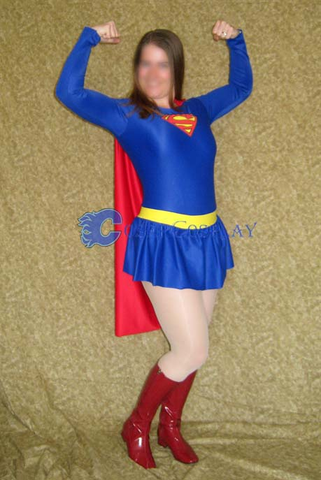 Superman Cosplay Costume Female Halloween Dresses