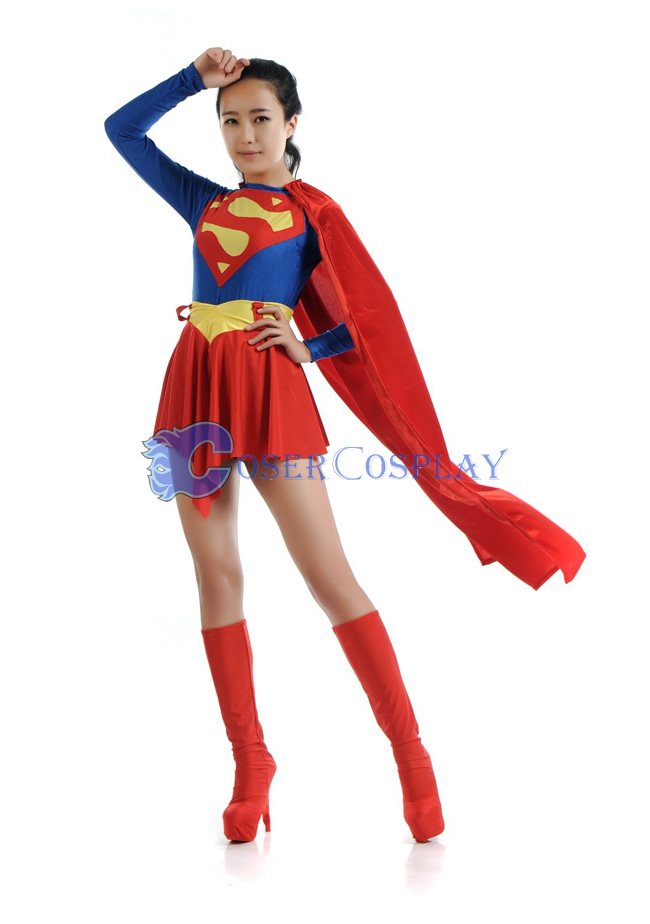 Superman Cosplay Costume For Girl