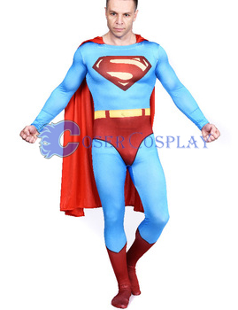 Superman Cosplay Costume Halloween Cape