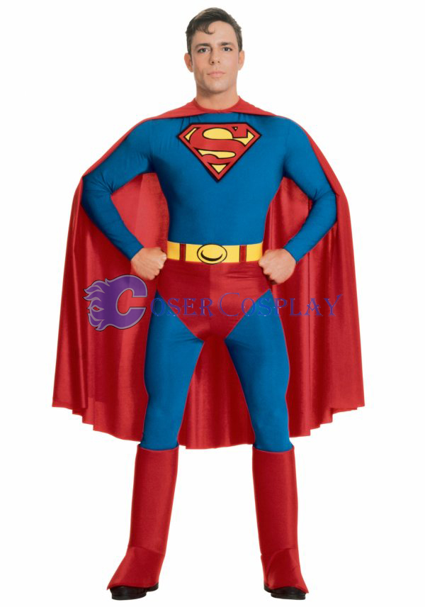 Superman Cosplay Costume Halloween Catsuit
