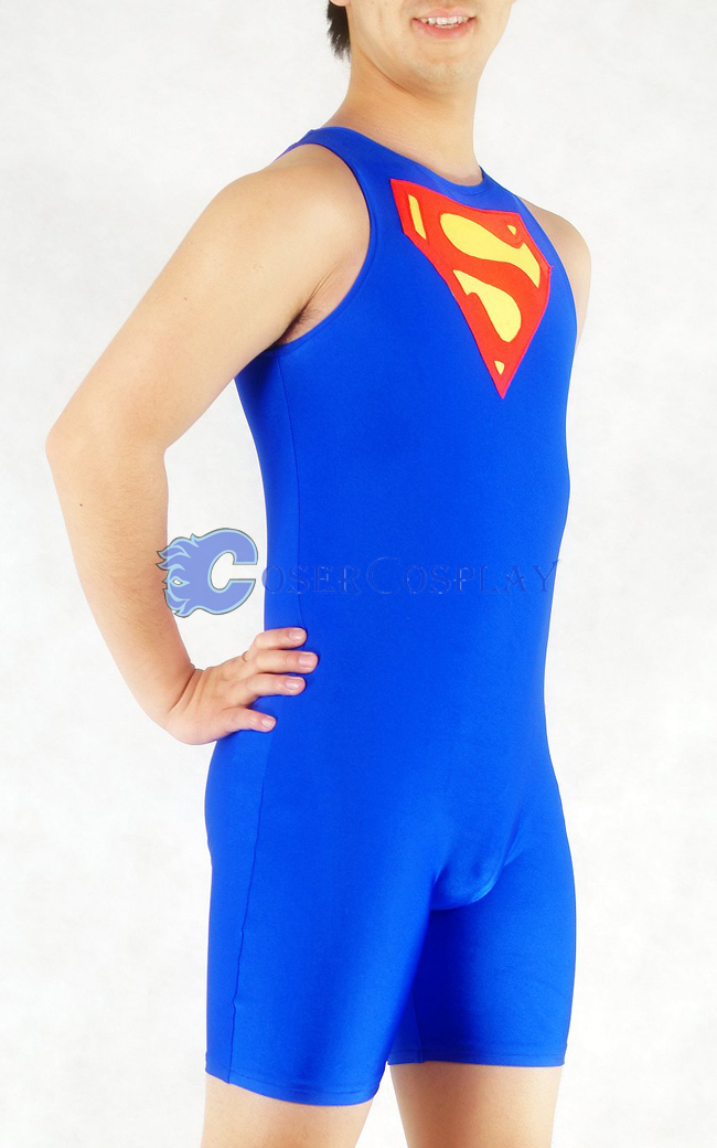 Superman Cosplay Costume Spandex Halloween Bodysuit