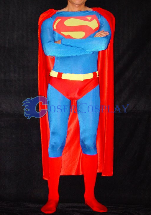 Superman Cosplay Costume Spandex Halloween