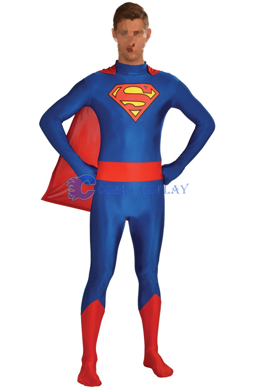 Superman Cosplay Costume Superhero Capes
