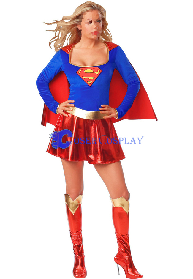 Superwoman Cosplay Costume Halloween Superhero Capes