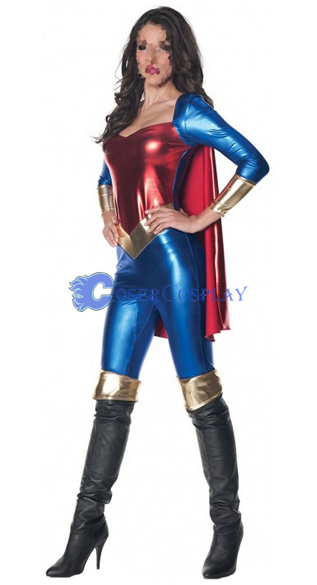 Superwoman Cosplay Costume With Cape