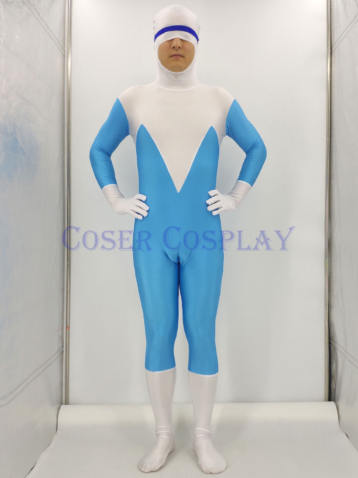 The Incredibles Frozone Lucius Best Cosplay Costume 0827