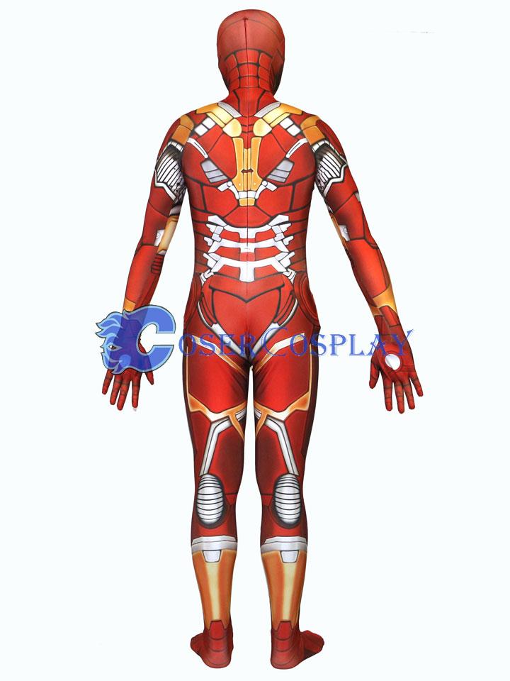 Tony Stark Halloween Costume.Tony Stark Iron Man Cosplay Costume Zentai Halloween