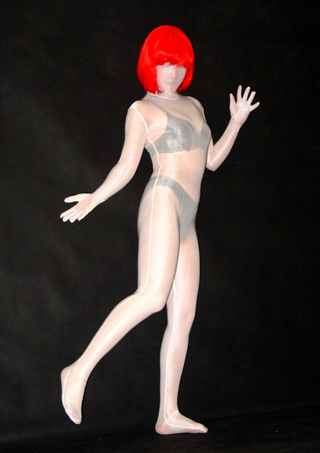 Transparent Silk Lycra Zentai Suit