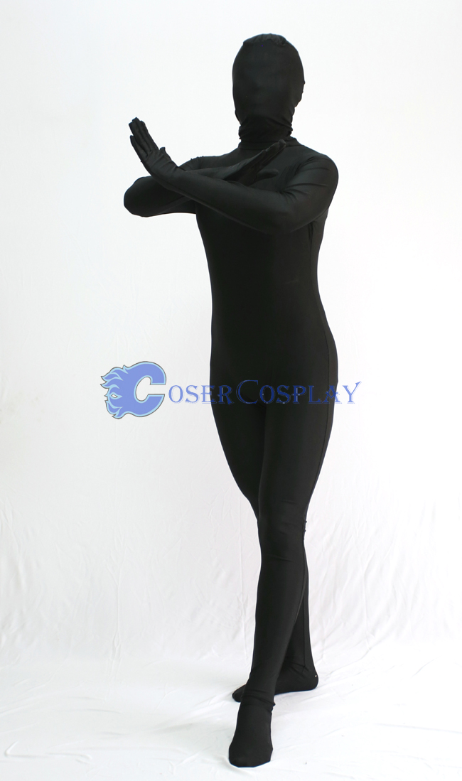 Unicolor Black Zentai Halloween Costumes